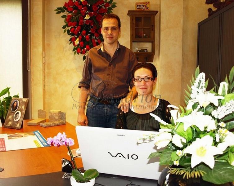 Loreto et Flavien Baudrion Gérants de Baudrion Pompes Funèbres